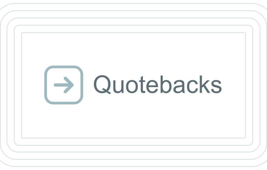 Quotebacks